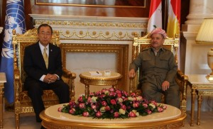 President Barzani Meets UN Secretary-General in Erbil