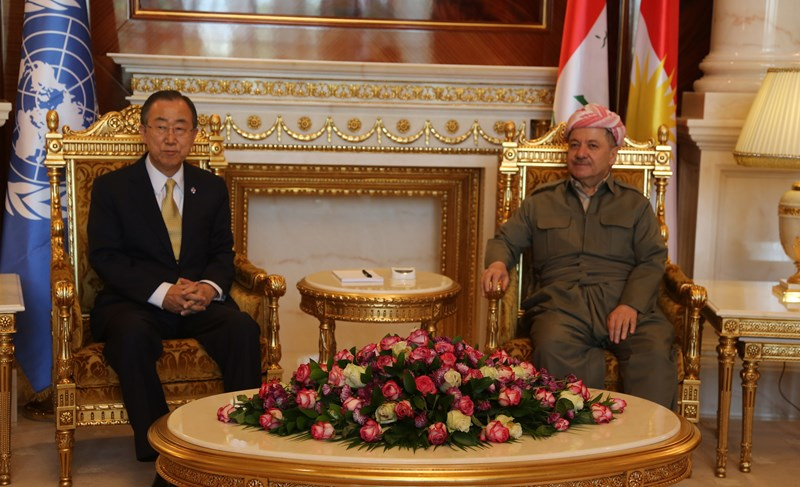 (English)  President Barzani Meets UN Secretary-General in Erbil