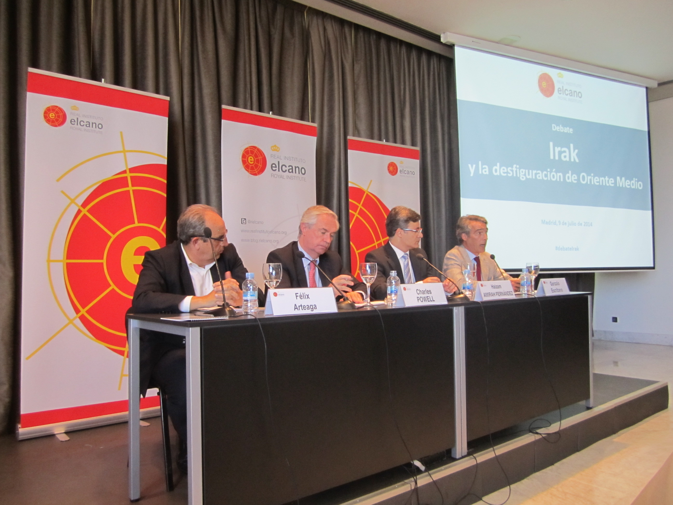 "KRG Spain office attends seminar on Iraq's current situation in think tank ""Real Insituto Elcano""."
