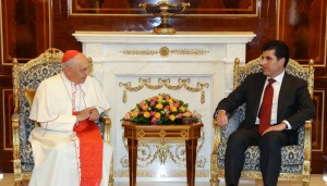 (English) Prime Minister Barzani discusses assistance for Christians with Pope's special envoy