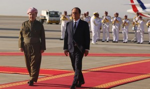 (English) French President Hollande visits Erbil, meets President Barzani