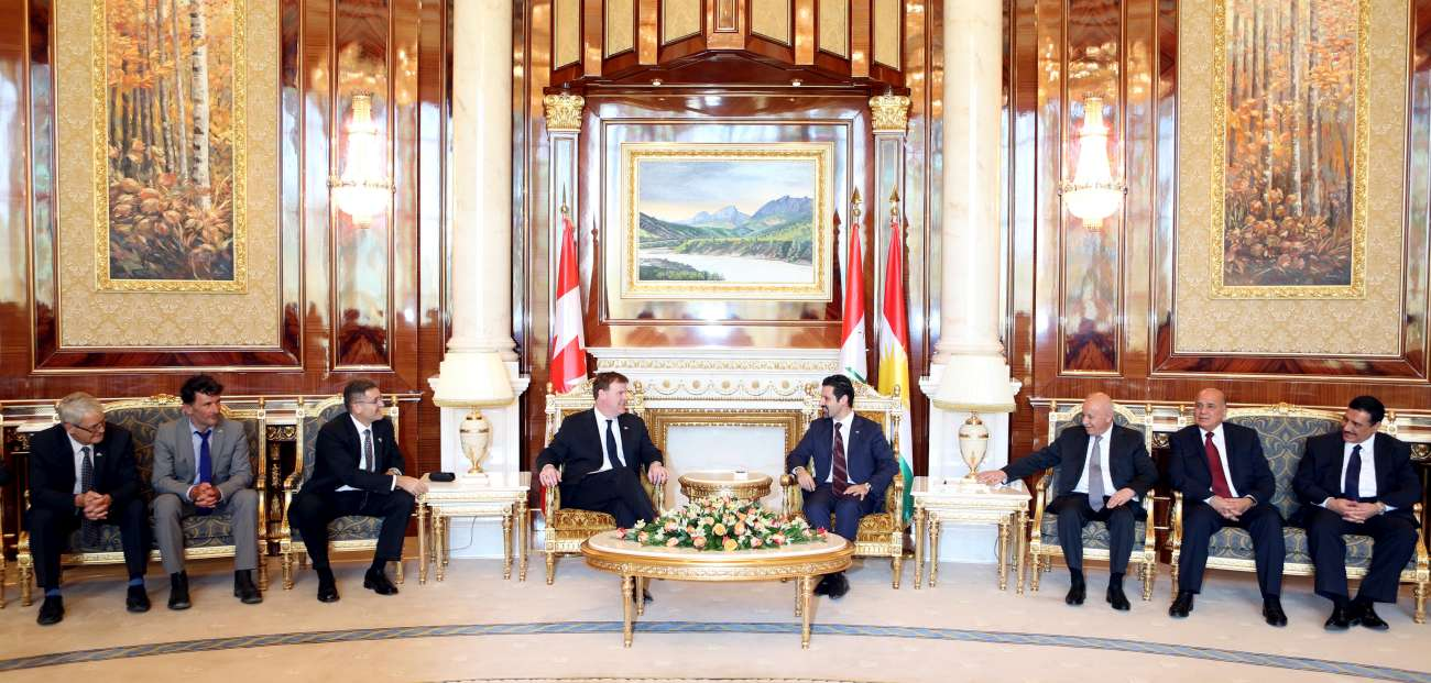 Deputy Prime Minister Qubad Talabani meets with Canadian Foreign Minister