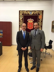KRG Representative to Spain met with the President of Navarra Parliament