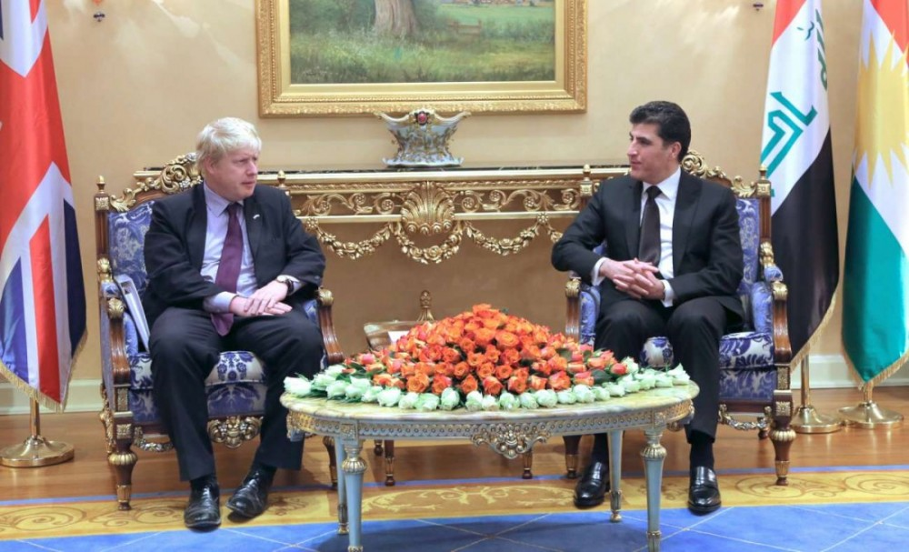 PM Barzani receives the Mayor of London, Boris Johnson