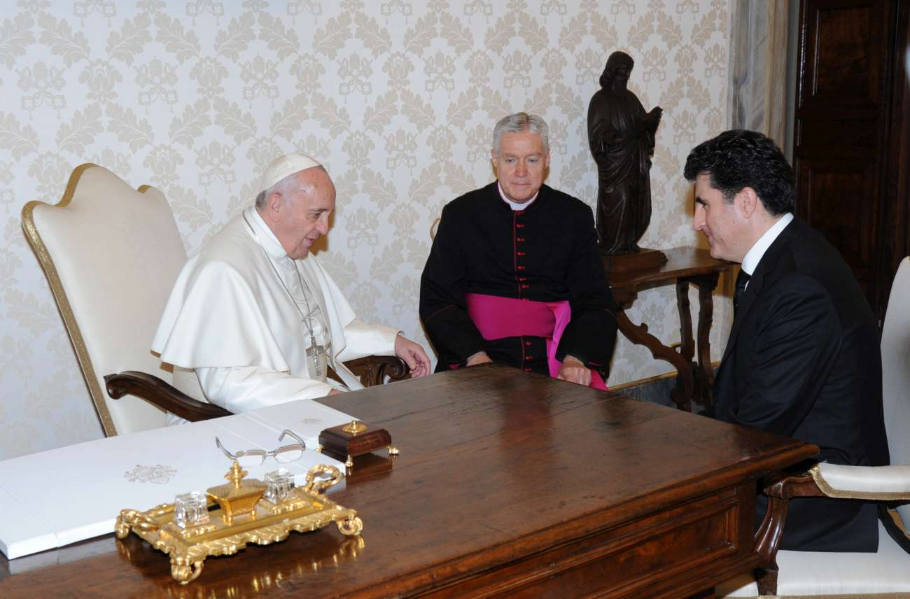 PM Barzani and His Holiness Pope Francis discuss current situation in Kurdistan Region