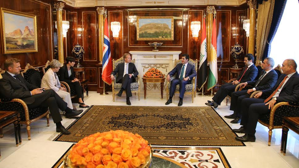 PM Barzani receives Norwegian Defense and Foreign Ministers