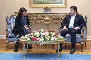 Prime Minister Barzani receives Mayor of Paris