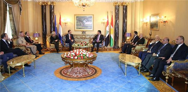 Prime Minister Barzani and Netherlands Deputy Prime Minister discuss situation in Kurdistan Region