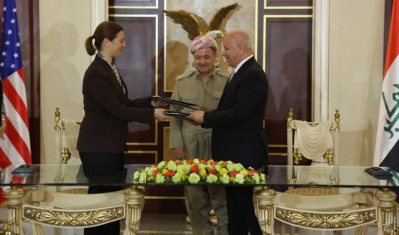 Kurdistan Region and the US sign a military agreement
