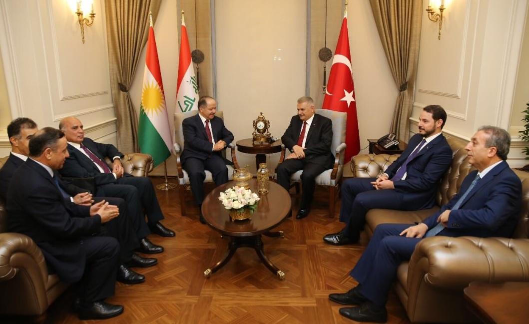President Barzani meets Turkish leaders