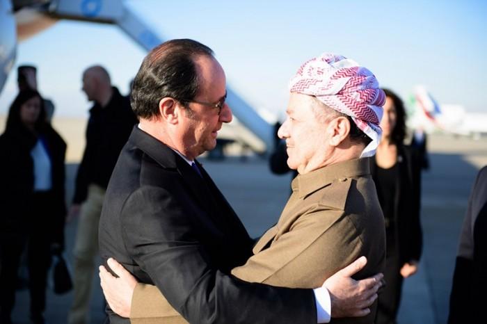 El GRK califica la visita del presidente francés como histórica