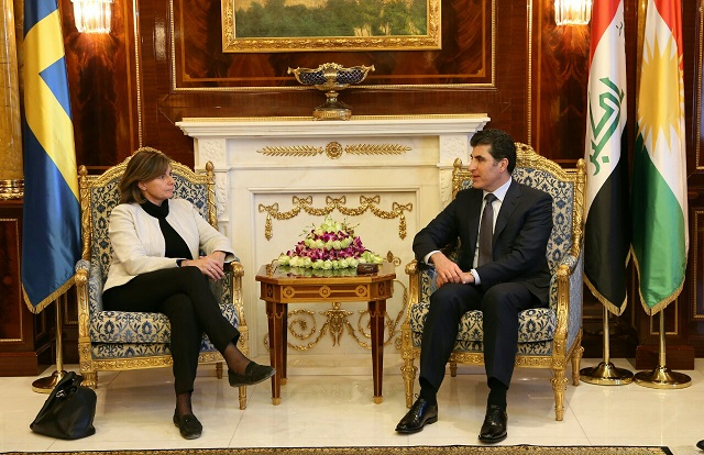 Prime Minister Barzani meets Sweden's Deputy Prime Minister