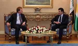 Prime Minister Barzani meets British Ambassador to Iraq