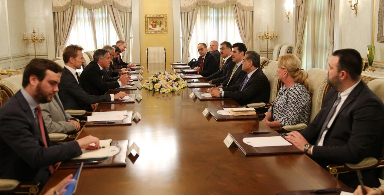 Prime Minister Barzani meets with the European Union representatives