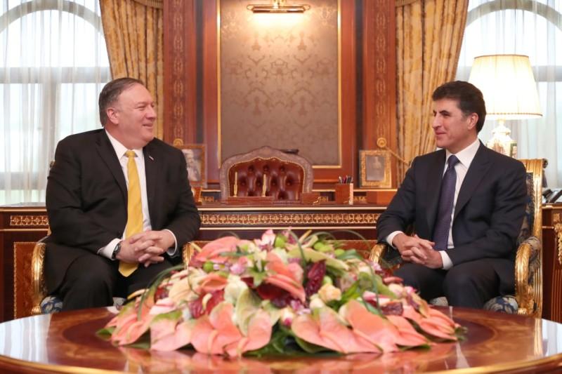 Prime Minister Barzani meets U.S. Secretary of State