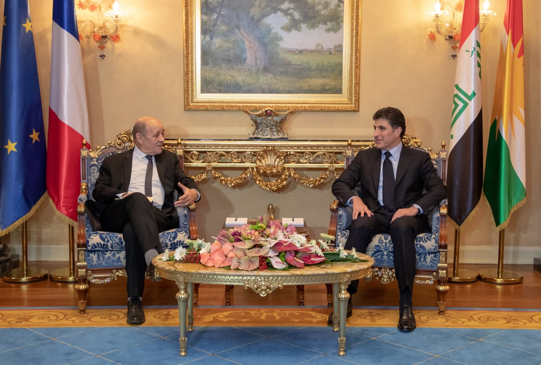 Prime Minister Barzani meets visiting French Minister of Europe and Foreign Affairs