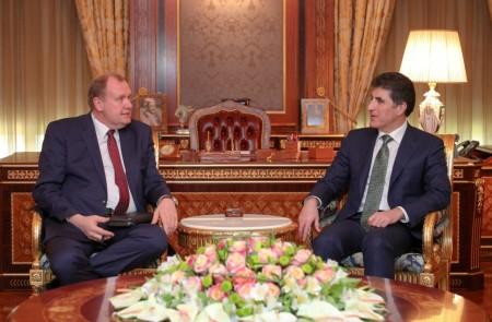 El primer ministro Barzani recibe al nuevo cónsul general ruso