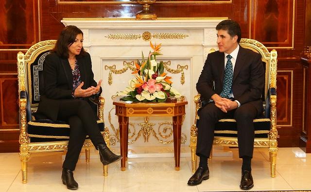 Prime Minister Barzani receives Paris Mayor
