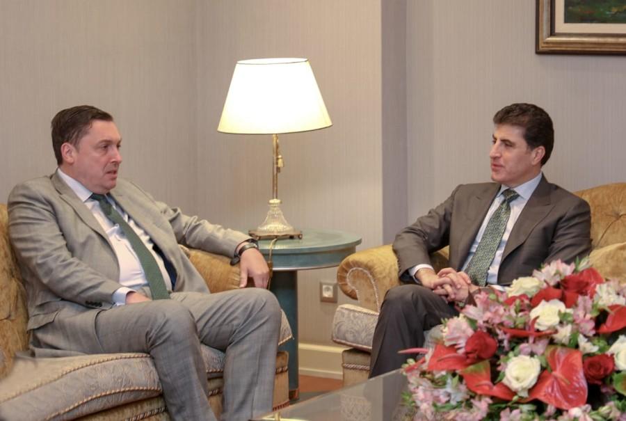 El primer ministro Barzani recibe al embajador británico