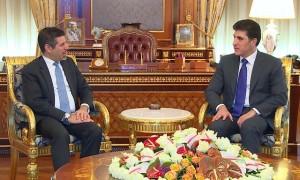 El primer ministro Barzani recibe al cónsul general de EE.UU.