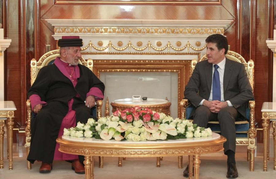 El primer ministro Barzani se reúne con el patriarca de la iglesia Asiria