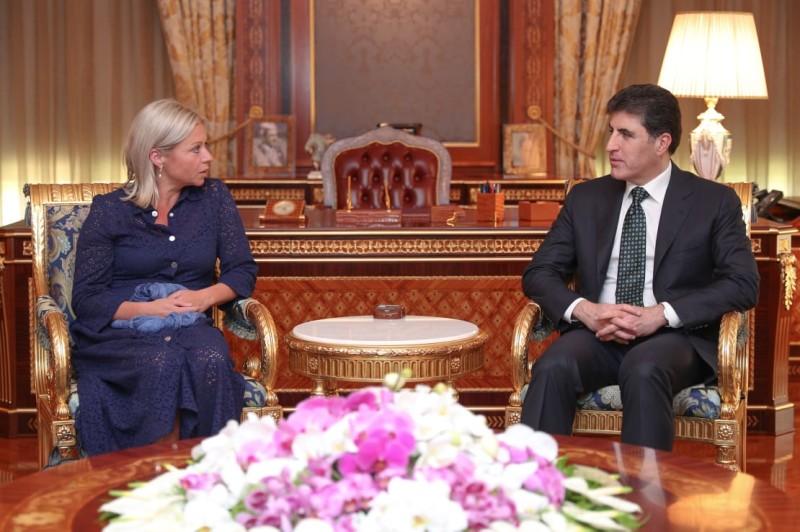El primer ministro Barzani se reúne con la enviada especial de la ONU