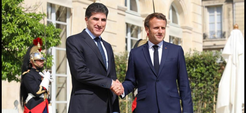 (English) Nechirvan Barzani Discusses the Developments in the Area with Emmanuel Macron