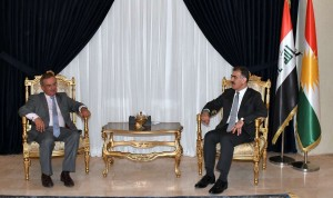 The Head of DFR, Minister Safeen Dizayee meet with the Spanish Ambassador to Iraq, Juan José Stemmann