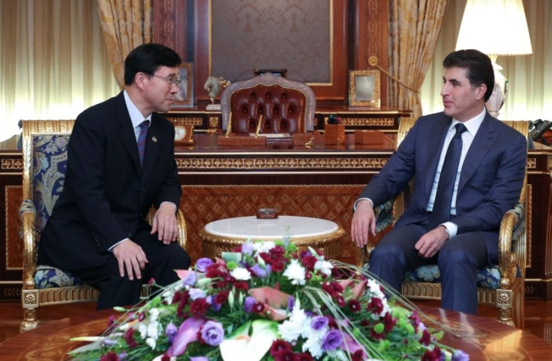 (English) President Barzani Receives the New Ambassador of the Republic of Korea to Iraq