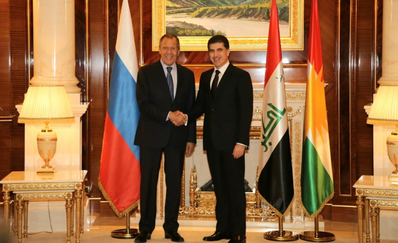 (English) Kurdistan Region President Receives Foreign Minister of Russian Federation