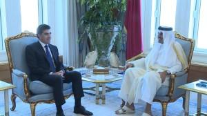 El presidente Nechirvan Barzani con visita oficial en Qatar