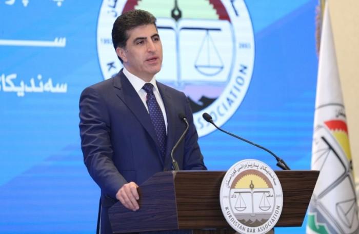 Presidente Barzani: los valores humanos y ciudadanos deben ser los pilares de la constitución