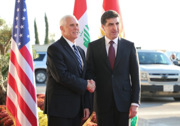 (English) President Barzani receives US Vice President Mike Pence