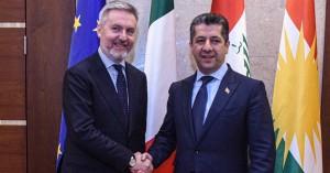 (English) Prime Minister Masrour Barzani receives Italian Minister of Defence