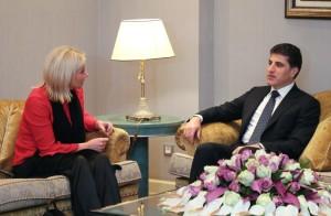 President Nechirvan Barzani meets UN Special Representative Plasschaert