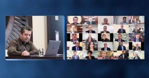 PM Barzani chairs cabinet meeting on public finances, fight against coronavirus pandemic