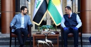 Deputy Prime Minister Qubad Talabani meets Slemani Governor, hails anti-coronavirus efforts