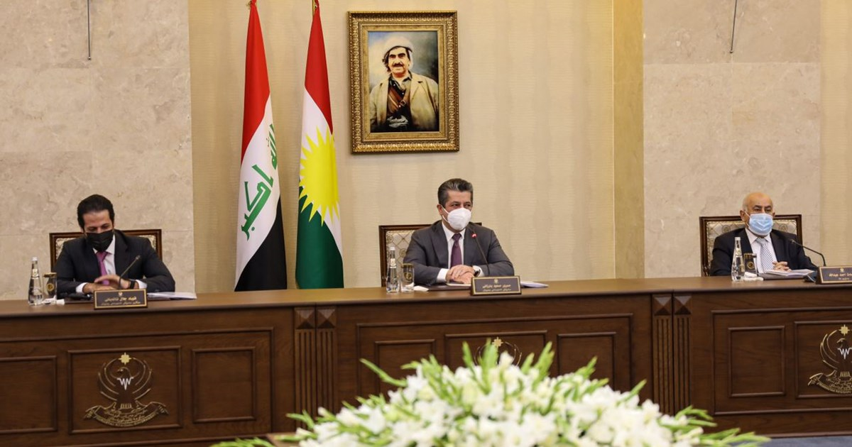 Prime Minister Masrour Barzani convenes council of Ministers to address growing challenges related to the pandemic