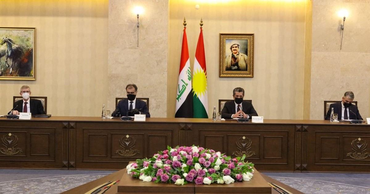 Prime Minister Masrour Barzani meets with foreign representatives in Kurdistan Region