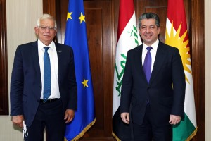 The Prime Minister Masrour Barzani welcomed Josep Borrell, High Representative of the European Union for Foreign Affairs and Security Policy
