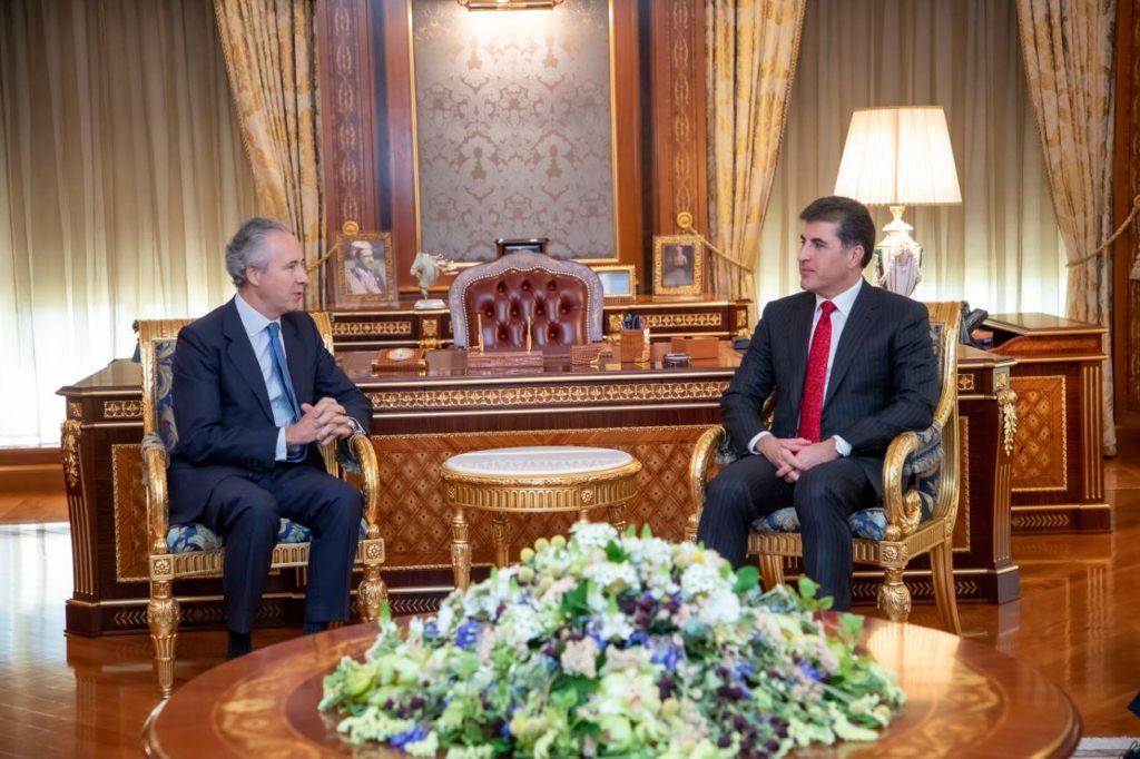 Kurdistan Region President receives Ambassador of Spain